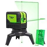 Cross Line Laser Level with 2 Plumb Dots - Huepar M-9211G Green Beam Self Leveling 180-Degree...