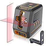 Satawell Laser Level, Self-Leveling Laser Line Adjustable Lightness Line 50Ft Cross Laser Level with...