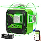 Huepar 3 x 360 Green Beam 3D Laser Level with Bluetooth Connectivity Three-Plane Self-Leveling and...