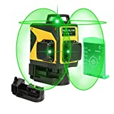 3D Green Line Laser, Rechargeable Self Leveling Laser Level for Construction, USB Charging Auto...
